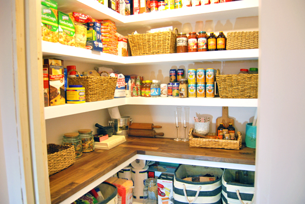 Our Home: The Finished DIY Basement Pantry