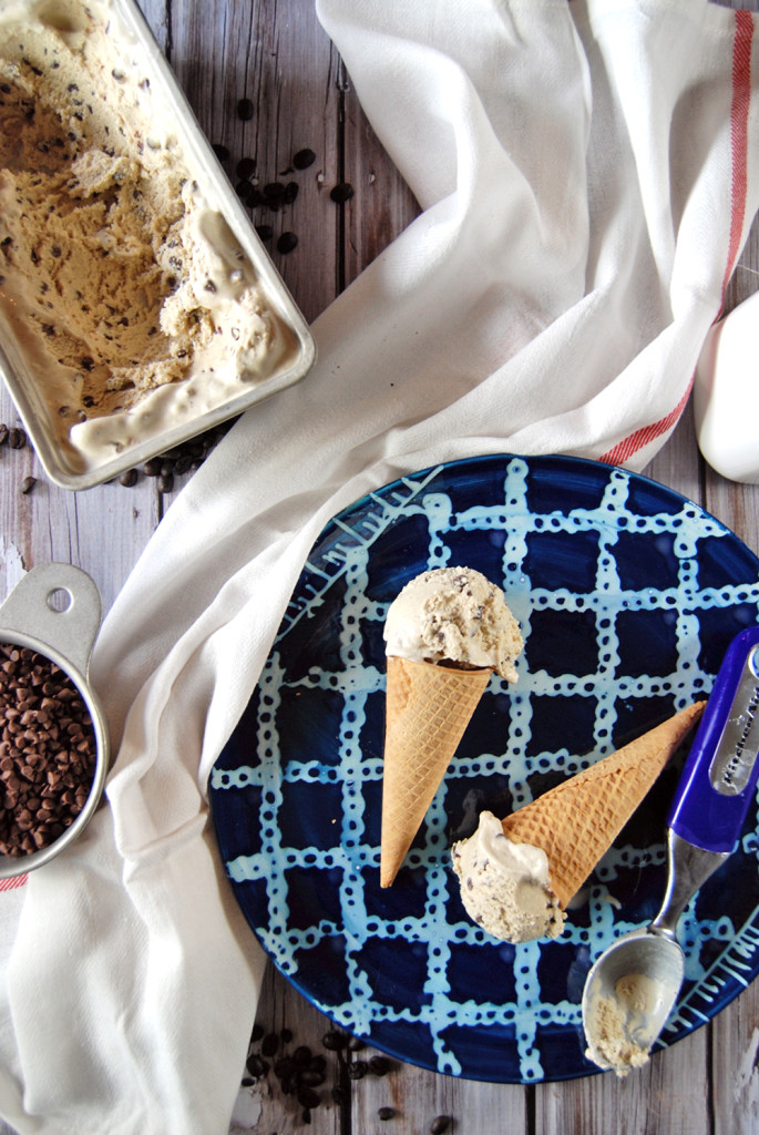 Coconut Chocolate Chip Coffee Ice Cream | the Charming Detroiter