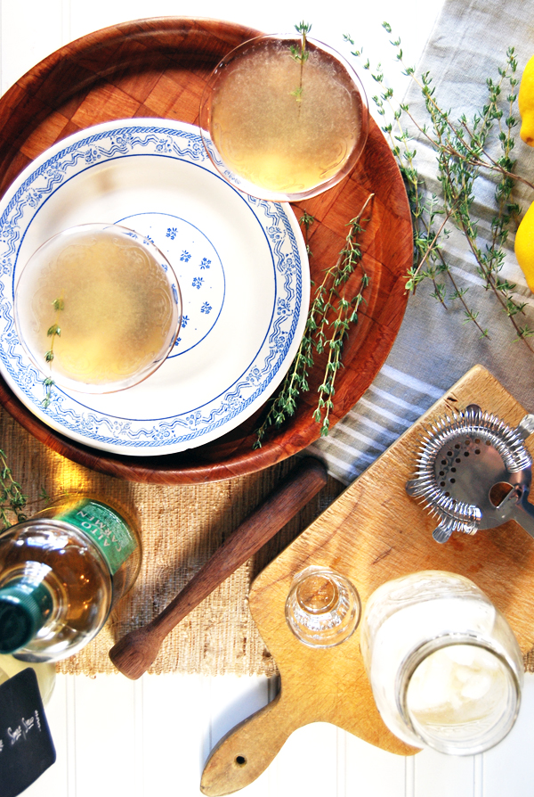 Thyme and Apple Pisco Sour