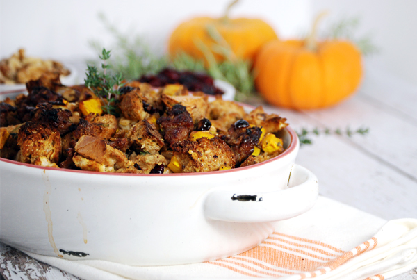 Why We Cook + A Recipe for Pumpkin Stuffing - Celebrate the holiday season with a beautiful stuffing recipe featuring roasted pumpkin, Italian sausage, and a beautiful herb blend.