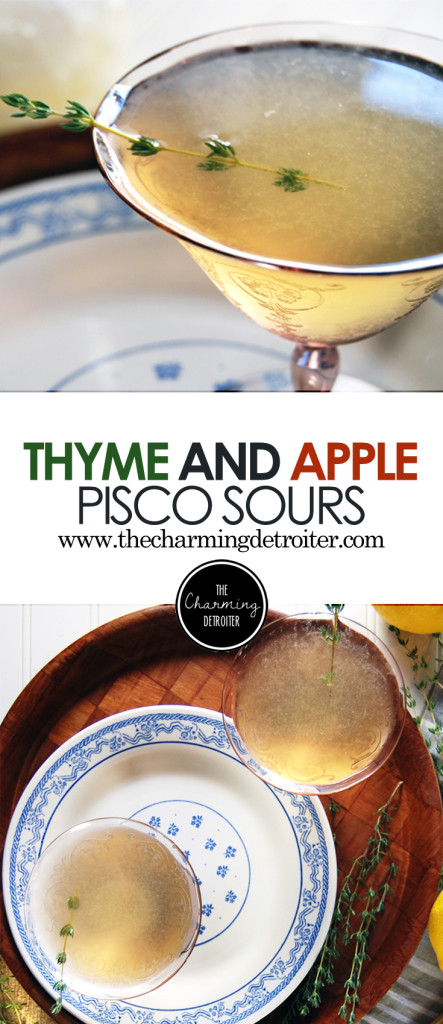 Thyme and Apple Pisco Sour: An autumn spin on a classic South American cocktail, these pisco sours feature thyme simple syrup and apple cider.