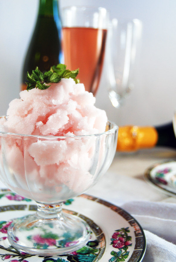 Mint and Sparkling Rose Sorbet