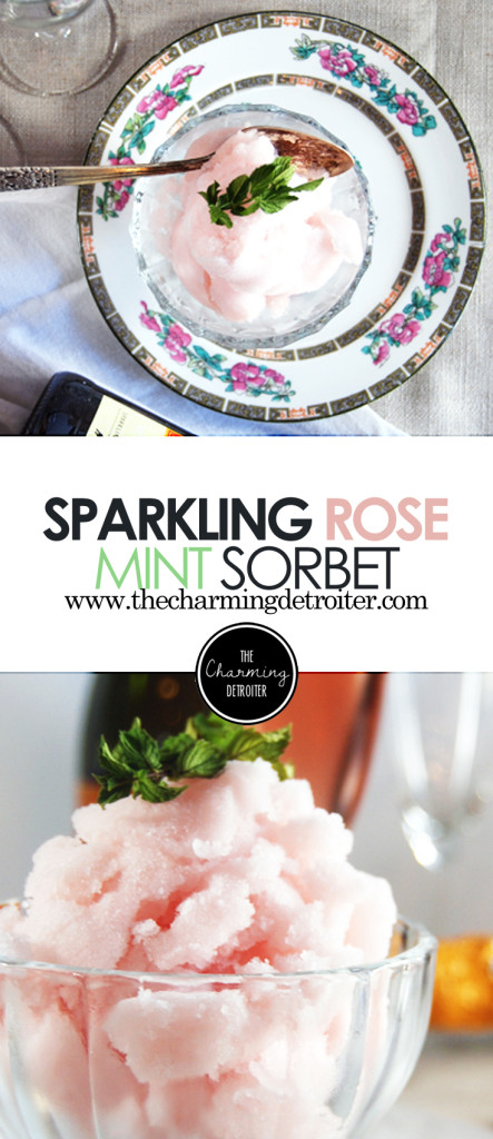Mint and Sparkling Rosé Sorbet: A light and refreshing sorbet made from sparkling rose and mint.