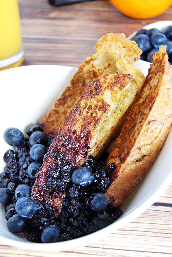 French Toast Sticks with Blueberry Compote: Classic french toast gets ...