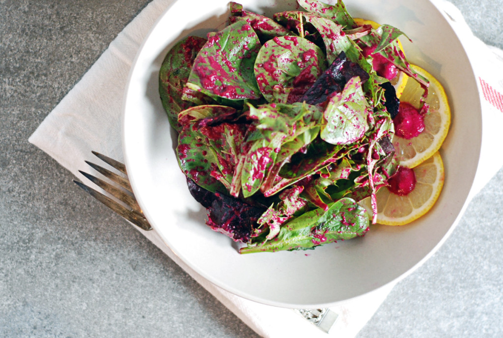 Tangy Roasted Beet Salad Dressing - The Charming Detroiter