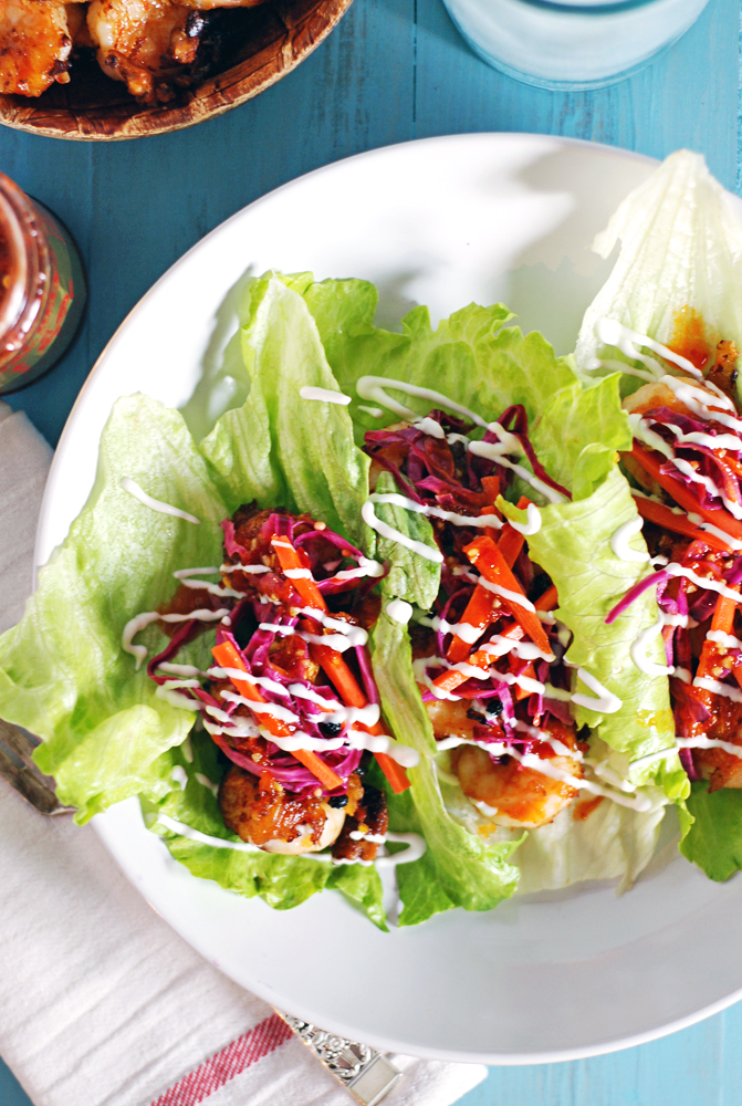 Asian Crispy Shrimp Lettuce Wraps