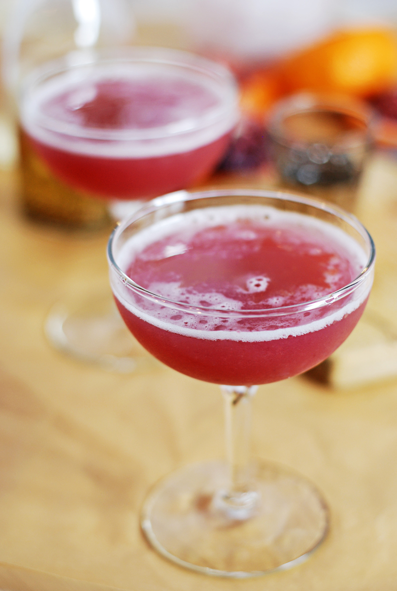 The Ruby Maker: A beautifully rich cocktail featuring homemade fennel vodka and blood orange juice.