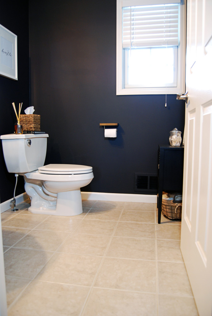 Before And After A DIY Powder Room Remodel The Charming