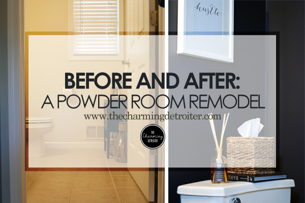 Before and After: A DIY Powder Room Remodel