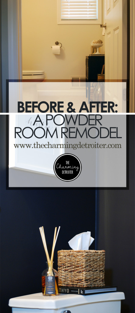 before and after: a diy powder room remodel - the charming detroiter