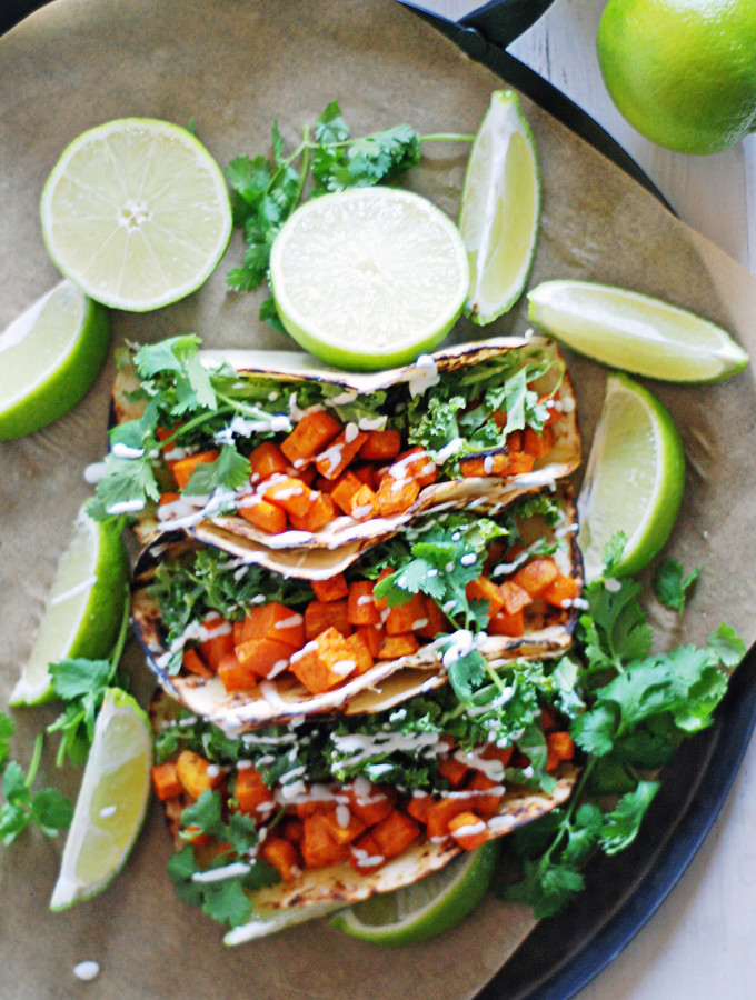 10 Ingredient Roasted Sweet Potato Tacos