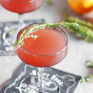 Thyme Blood Orange Mimosas
