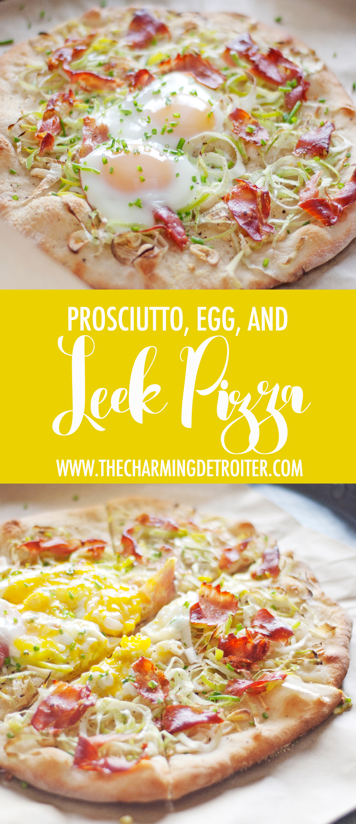 This shaved leek pizza also features prosciutto, garlic, and eggs, and comes together in just 20 minutes - perfect for quick weeknight meals!
