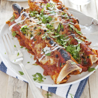 Chorizo and Sweet Potato Enchiladas