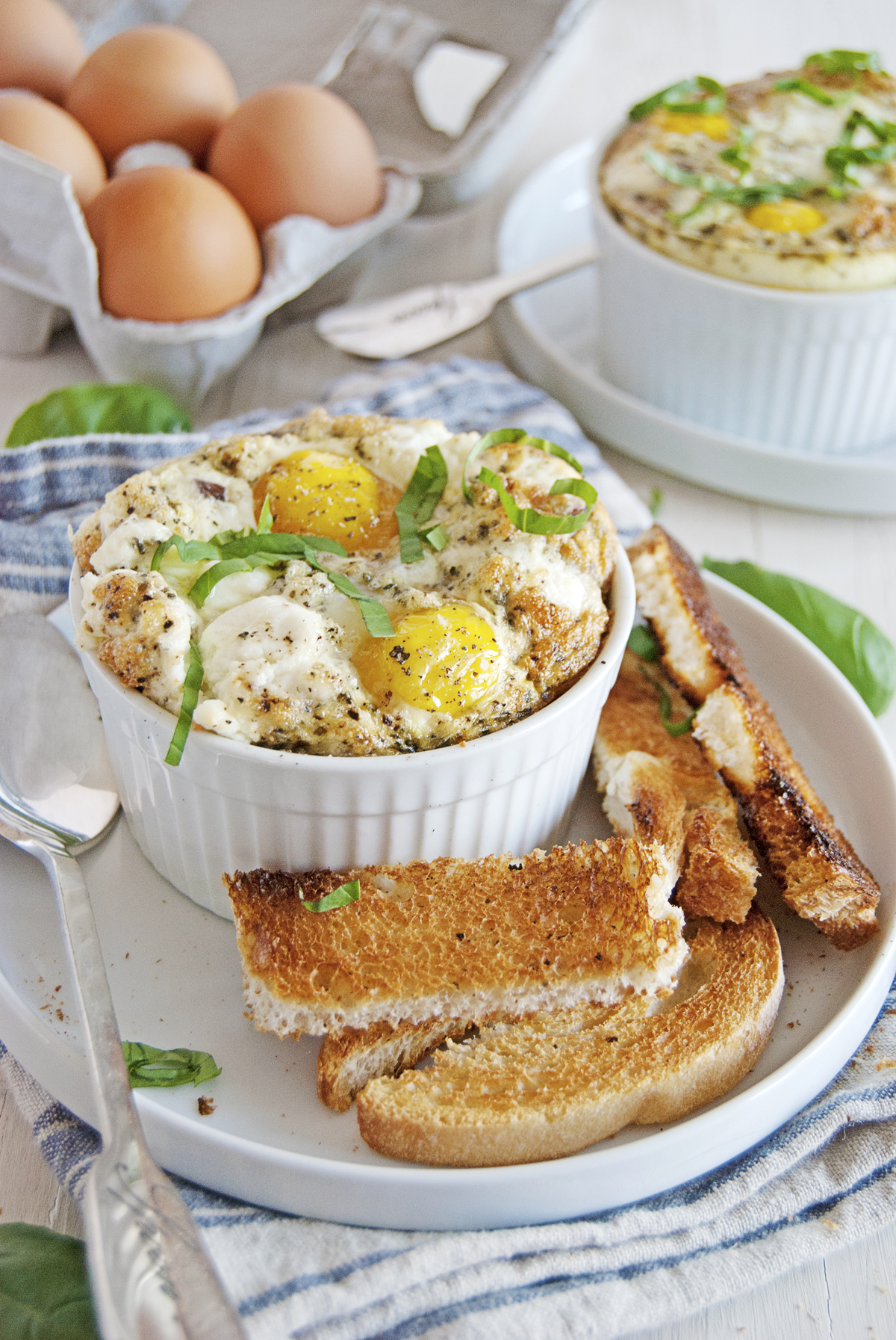 These Egg Bakes Are The Perfect Simple Breakfast And Feature Mushrooms Shallots Fresh