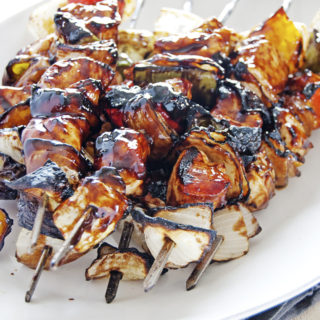 Balsamic BBQ Chicken Skewers