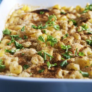 Baked Crawfish Mac and Cheese
