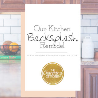 DIY Kitchen Backsplash Remodel