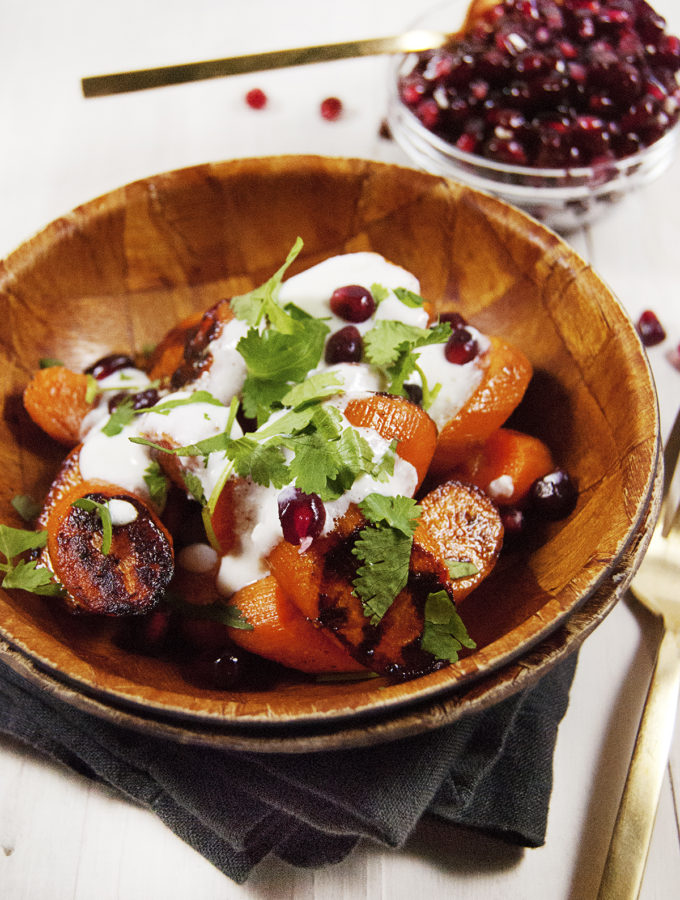 Pan Roasted Carrots with Cotija Crema
