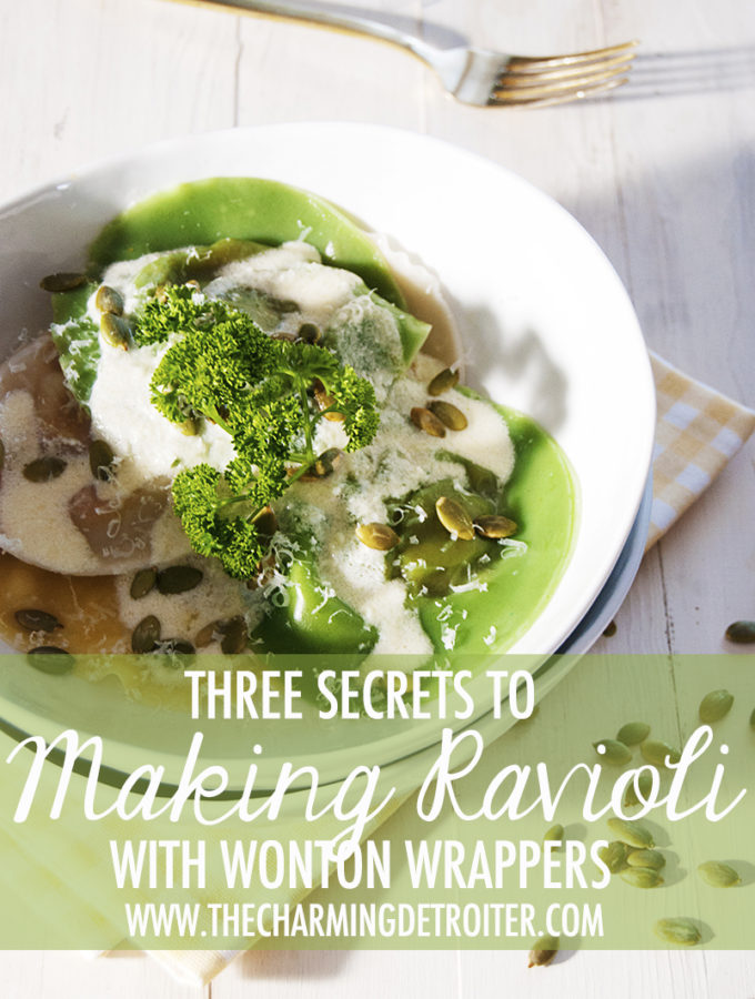 Three Secrets to Making Ravioli with Wonton Wrappers