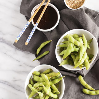Steamed Edamame with Hoisin Dipping Sauce