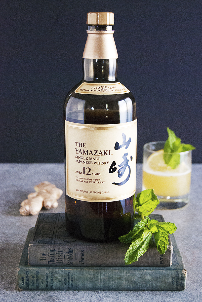 A Japanese whisky cocktail featuring ginger simple syrup, fresh lemon juice and mint, and pineapple juice paired with delicious Japanese whisky.