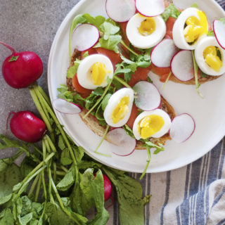 Egg and Cured Salmon Sandwiches