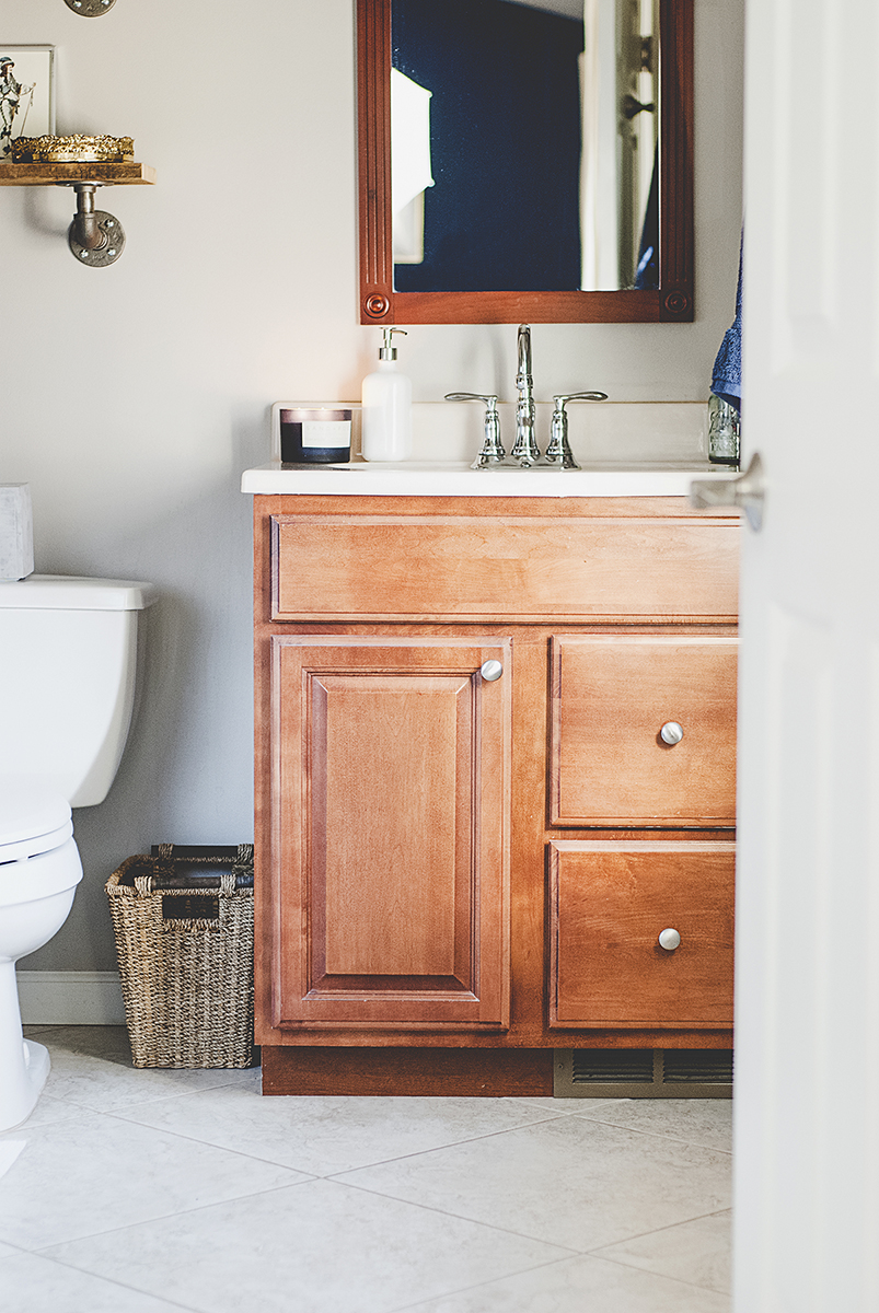 A Boring Master Bath Gets Mini Remodel Into Gorgeous French Country Bathroom