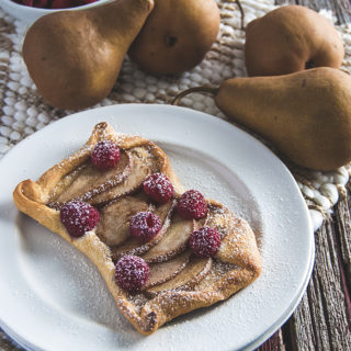 Raspberry Pear Turnovers