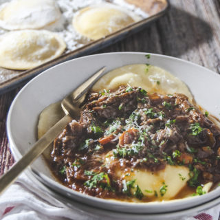 Short Rib Bolognese with Ricotta Ravioli
