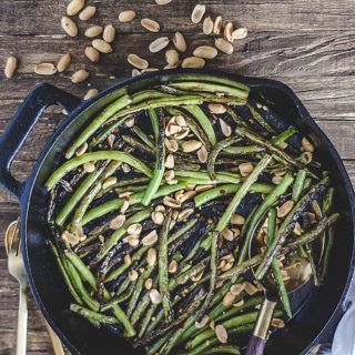 Blistered Miso Green Beans with Peanuts
