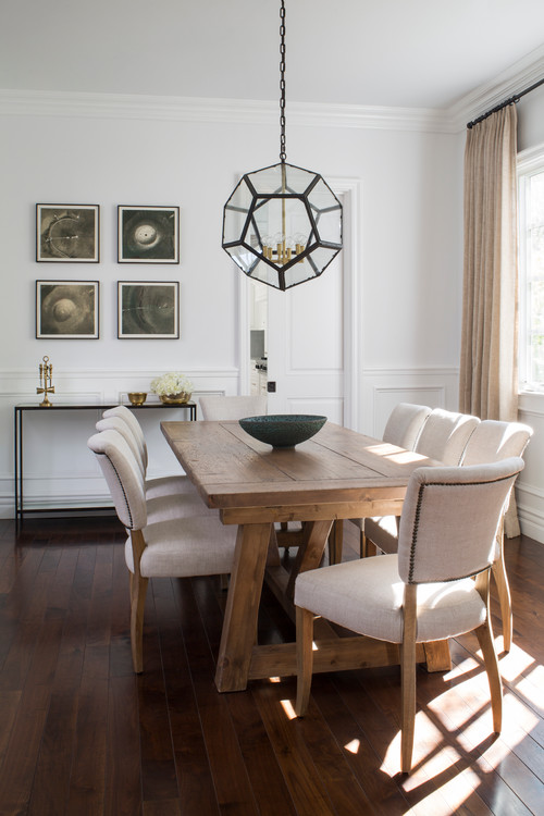Today I'm sharing my modern farmhouse style inspiration board for our planned dining room renovation in our new house, Two Lakes Lodge!
