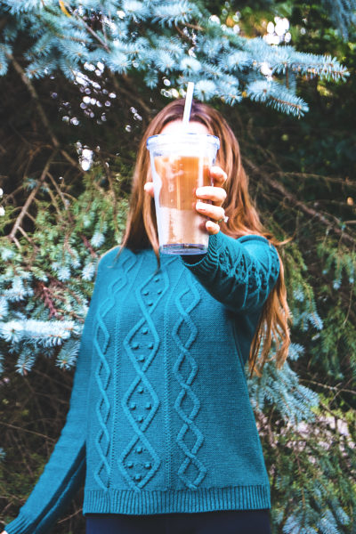 This iced pumpkin spice latte recipe is my version of my favorite fall drink! It features that pumpkin spice flavor that we all love this time of year!