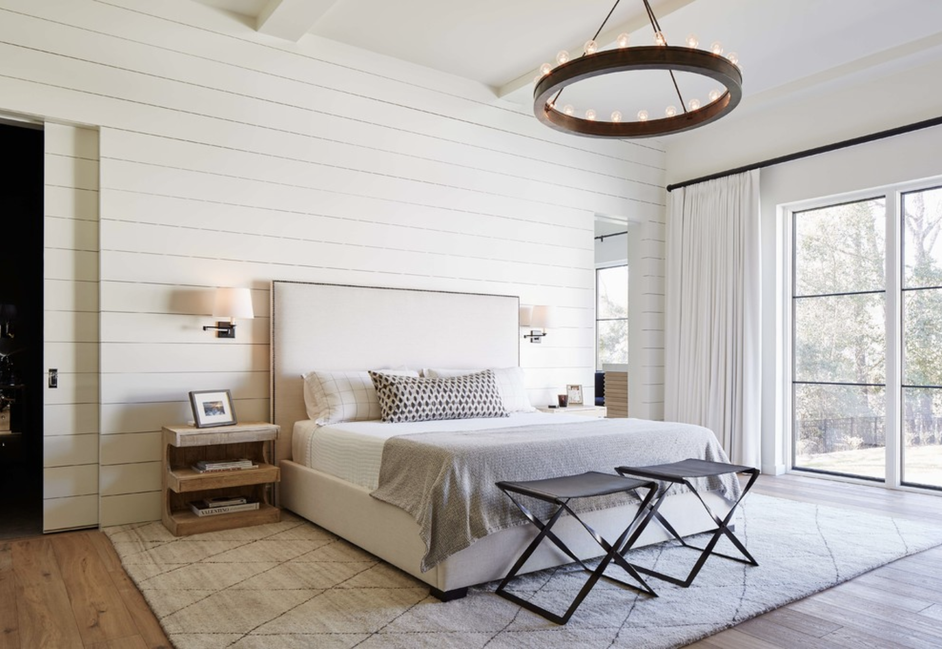 Today I'm sharing with you guys our master bedroom inspiration board, a compilation of our plans to turn our dated master bedroom into a beautiful modern farmhouse retreat!